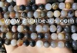 CWJ570 15.5 inches 8mm round Arizona petrified wood jasper beads