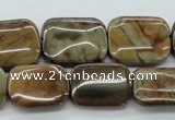 CWJ58 15.5 inches 15*20mm rectangle wood jasper gemstone beads