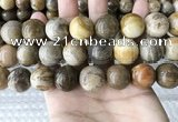 CWJ597 15.5 inches 18mm round wood jasper beads wholesale