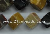 CWJ68 15.5 inches 12*12mm cube wood jasper gemstone beads