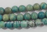 CXH102 15.5 inches 8mm round dyed Xiang He Shi gemstone beads