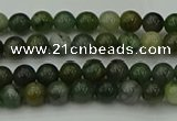 CXJ400 15.5 inches 4mm round Xinjiang jade beads wholesale