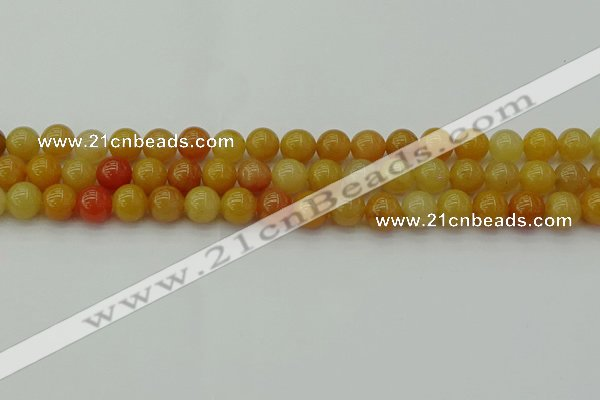 CYJ622 15.5 inches 8mm round yellow jade beads wholesale