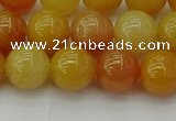 CYJ623 15.5 inches 10mm round yellow jade beads wholesale
