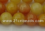 CYJ624 15.5 inches 12mm round yellow jade beads wholesale