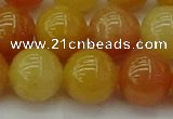 CYJ625 15.5 inches 14mm round yellow jade beads wholesale