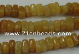 CYJ70 15.5 inches 5*8mm nuggets yellow jade beads wholesale