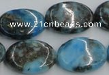 CYQ56 15.5 inches 18*25mm oval dyed pyrite quartz beads wholesale