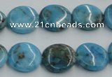 CYQ58 15.5 inches 16mm flat round dyed pyrite quartz beads wholesale