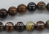 CZJ171 15.5 inches 10mm round iron zebra jasper beads wholesale