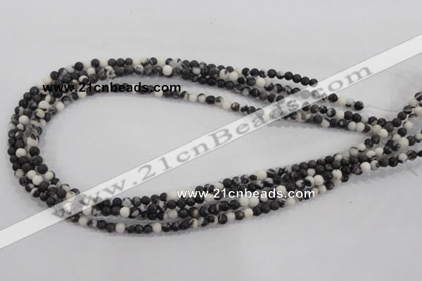 CZJ202 15.5 inches 6mm round black & white zebra jasper beads