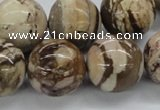 CZJ256 15.5 inches 20mm round zebra jasper beads wholesale