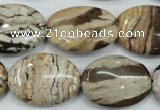 CZJ302 15.5 inches 18*25mm oval zebra jasper beads wholesale