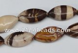 CZJ354 15.5 inches 10*20mm marquise zebra jasper beads wholesale