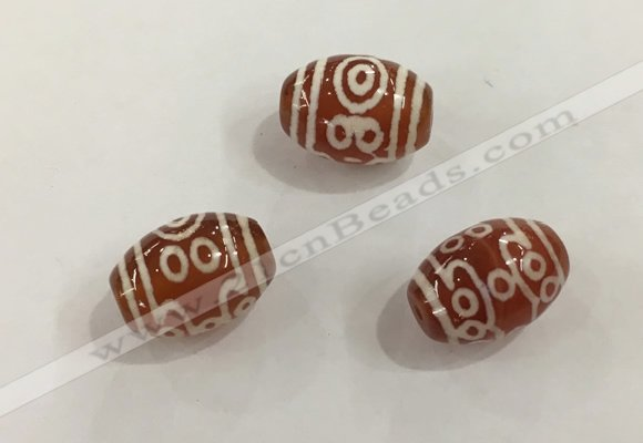 DZI392 10*14mm drum tibetan agate dzi beads wholesale