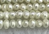 FWP01 14.5 inches 1.5mm - 1.8mm potato white freshwater pearl strands
