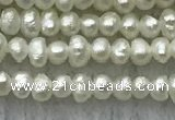 FWP02 14.5 inches 1.5mm - 1.8mm potato white freshwater pearl strands