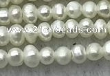 FWP03 14.5 inches 1.8mm - 2mm potato white freshwater pearl strands