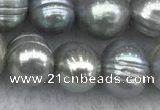 FWP138 15 inches 6mm - 7mm potato grey freshwater pearl strands
