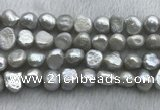 FWP256 15 inches 11mm - 12mm baroque grey freshwater pearl strands