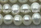 FWP26 14.5 inches 4mm - 4.5mm potato white freshwater pearl strands