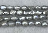 FWP307 15 inches 11mm - 12mm baroque grey freshwater pearl strands