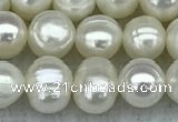 FWP36 15 inches 5mm - 6mm potato white freshwater pearl strands