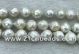 FWP360 15 inches 11mm - 12mm baroque freshwater nucleated pearl beads
