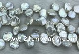 FWP376 Top-drilled 15mm - 18mm keshi freshwater pearl beads