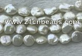 FWP385 15 inches 11mm - 12mm coin freshwater pearl beads