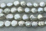 FWP386 15 inches 12mm - 13mm coin freshwater pearl beads