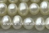 FWP41 14.5 inches 4mm - 5mm potato white freshwater pearl strands