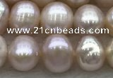 FWP45 14.5 inches 5mm - 6mm potato purple freshwater pearl strands
