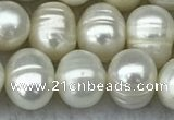 FWP70 15 inches 7mm - 8mm potato white freshwater pearl strands