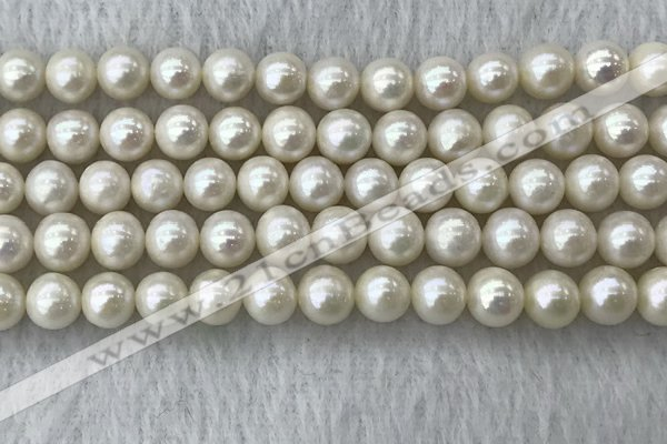FWP75 15 inches 7mm - 8mm potato white freshwater pearl strands
