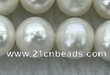 FWP87 15 inches 8mm - 9mm potato white freshwater pearl strands