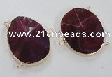 NGC213 30*40mm - 35*45mm freeform agate gemstone connectors