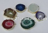 NGC483 25*30mm - 35*40mm freefrom druzy agate gemstone connectors