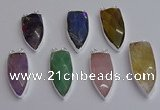 NGC5735 15*35mm - 16*45mm arrowhead mixed gemstone connectors