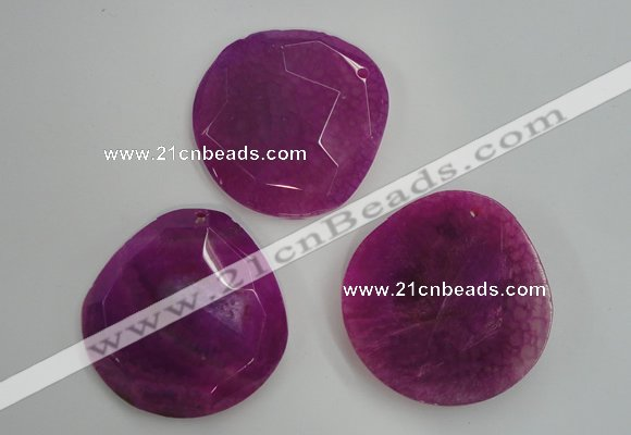NGP1243 40*50mm - 45*55mm freeform agate gemstone pendants wholesale