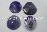 NGP1249 40*50mm - 45*55mm freeform agate gemstone pendants wholesale
