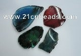 NGP1262 40*50mm - 50*70mm freeform agate gemstone pendants wholesale