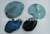 NGP1273 45*55mm - 70*90mm freeform agate gemstone pendants wholesale