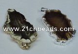 NGP1474 30*40mm - 40*50mm freeform agate gemstone pendants