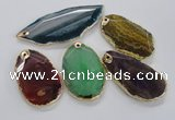 NGP1706 35*55mm - 40*65mm freeform agate gemstone pendants