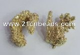 NGP2396 20*40mm - 30*50mm freeform plated natural coral pendants