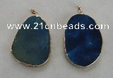 NGP2550 45*60mm - 48*65mm freeform agate gemstone pendants