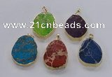 NGP2947 25*35mm – 35*45mm freeform sea sediment jasper pendants
