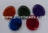 NGP3236 42*52mm - 45*55mm freeform agate gemstone pendants