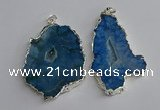 NGP3367 40*45mm - 45*60mm freeform druzy agate pendants